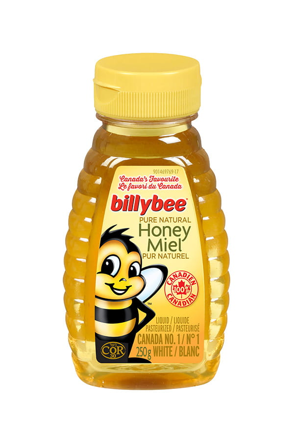 container of Billybee Pure Natural Honey