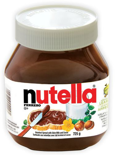 Container of Nutella Chocolate Spread