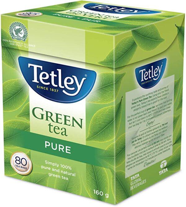 Box of Tetley Pure Green Tea