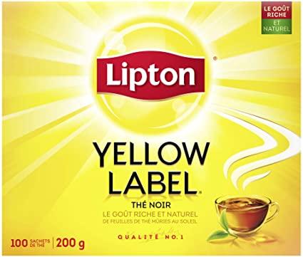 Box of Lipton Yellow Label Tea