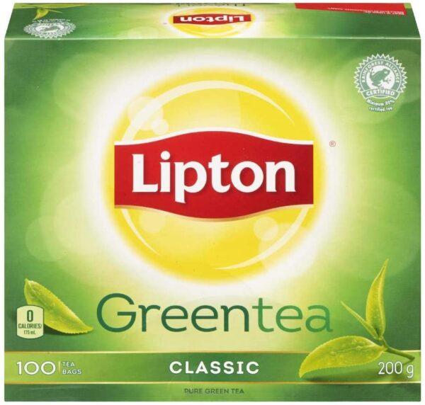 Box of Lipton Green Tea Classic