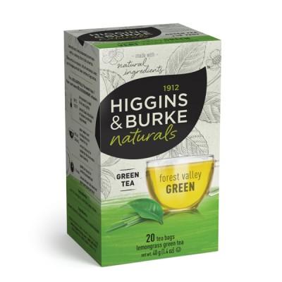Box of Higgins & Burke Naturals Forest Valley Green Tea