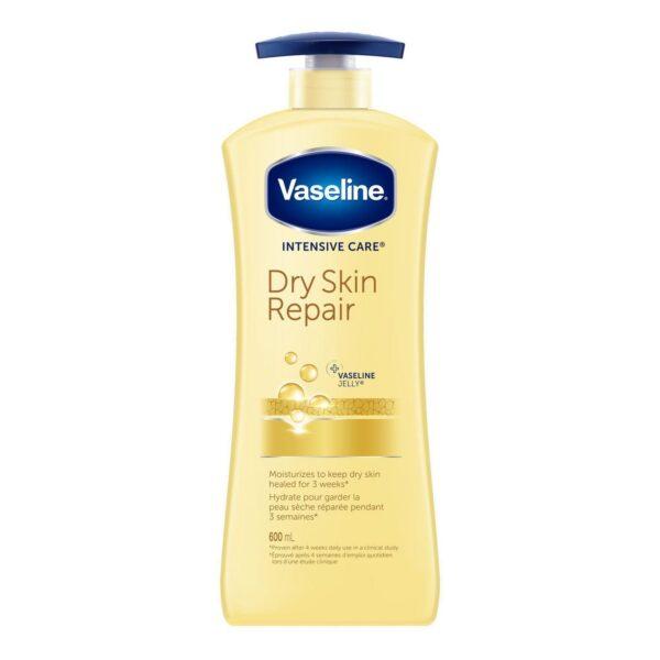 Bottle of Vaseline Dry Skin Repair Lotion