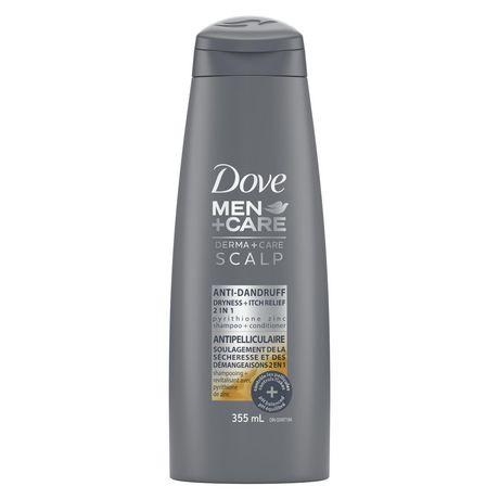 bottle of dove men anti-dandruff shampoo